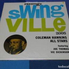 Discos de vinilo: LOTT110 LP JAZZ UK 70S PRESTIGE SWINGVILLE 2005 COLEMAN HAWKINS ALL STARS MUY BUEN ESTADO. Lote 236225995