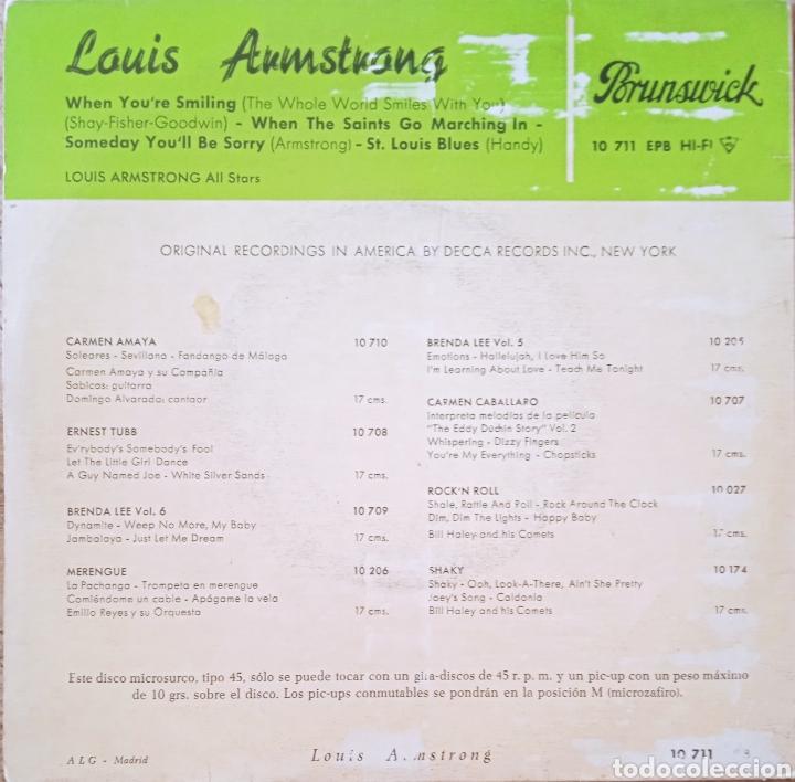 Discos de vinilo: EP Louis Armstrong - Foto 2 - 236227560