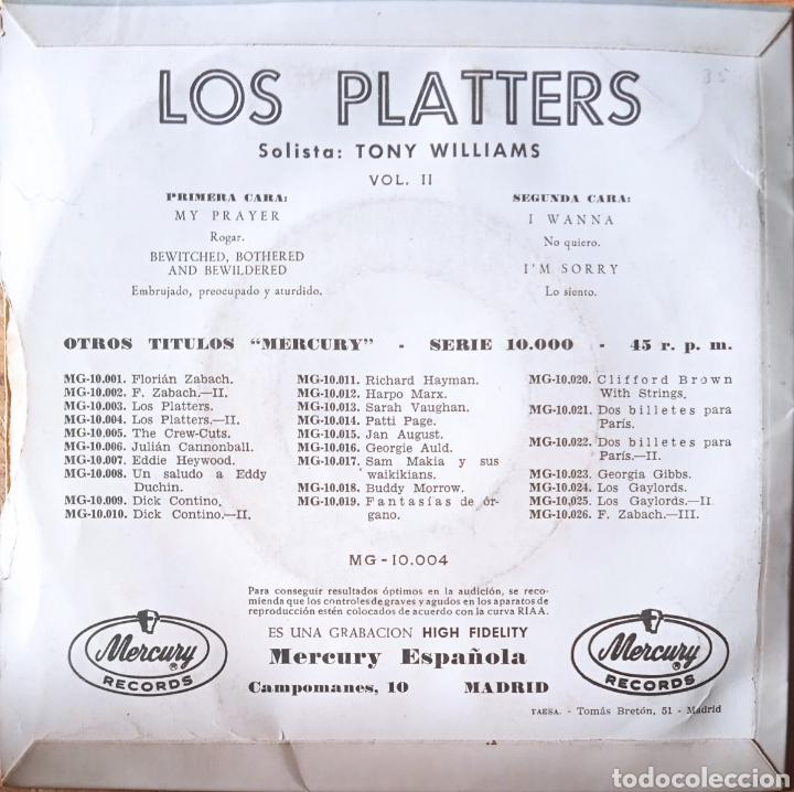 Discos de vinilo: EP The Platters - Foto 2 - 236232940