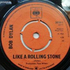 Discos de vinilo: BOB DYLAN – LIKE A ROLLING STONE SINGLE UK 1965 VG. Lote 236238240
