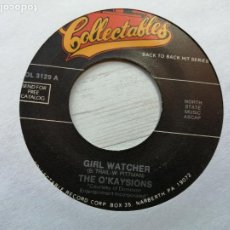 Discos de vinil: THE O'KAYSIONS / THE ESQUIRES – GIRL WATCHER / GET ON UP SINGLE USA REED. VG+. Lote 236238870