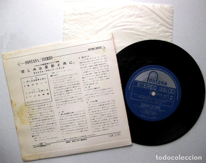 Discos de vinilo: Bruno Nicolai E La Sua Orchestra - Andremo In Citta (Iremos A La Ciudad) - EP Fontana 1966 Japan BPY - Foto 2 - 236244810