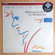 Discos de vinilo: BERNSTEIN BY BOSTON· CONDUCTED BY JOHN WILLIAMS NUEVO! NEW! AÚN PRECINTADO. Lote 236246000