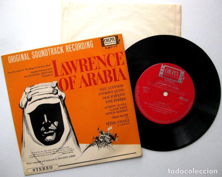 MAURICE JARRE - LAWRENCE OF ARABIA - EP COLPIX RECORDS 1963 JAPAN (EDICIÓN JAPONESA) BPY (Música - Discos de Vinilo - EPs - Bandas Sonoras y Actores)
