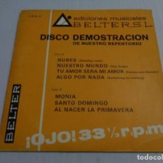 Discos de vinilo: DISCO DEMOSTRACION DE NUESTRO REPERTORIO - BELTER 1969 - LOS HURACANES - JESS@JAMES - RIKA ZARAI .... Lote 236259630
