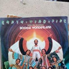 Discos de vinilo: EARTH, WIND & FIRE - BOOGIE WONDERLAND. Lote 236261285