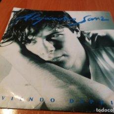 Discos de vinilo: ALEJANDRO SANZ LP VIVIENDO DEPRISA CONTIENE ENCARTE LETRA DE CANCIONES 1991 BUEN ESTADO. Lote 236305380