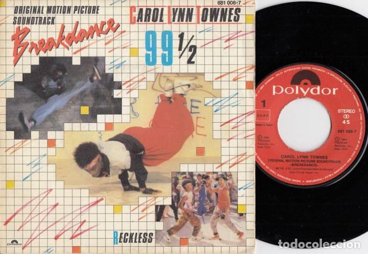 CAROL LYNN TOWNES - 99 1/2 - SINGLE DE VINILO EDICION ESPAÑOLA HIP HOP RAP # (Música - Discos - Singles Vinilo - Rap / Hip Hop)