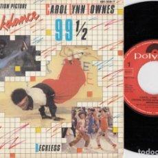 Discos de vinilo: CAROL LYNN TOWNES - 99 1/2 - SINGLE DE VINILO EDICION ESPAÑOLA HIP HOP RAP #. Lote 236313650
