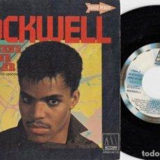 Discos de vinilo: ROCKWELL - OBSCENE PHONE CALLER - SINGLE DE VINILO EDICION ESPAÑOLA #. Lote 236314080