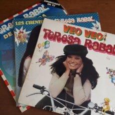 Discos de vinilo: 3 LPS DE TERESA RABAL - VEO VEO, LOS CUENTOS DE TERESA RABAL Y DE OCA EN OCA - AÑOS 80.. Lote 236331185