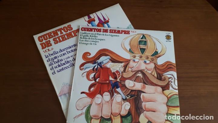 2 LPS CUENTOS DE SIEMPRE - VOL. 6, 8 - 1977. (Música - Discos - LPs Vinilo - Música Infantil)