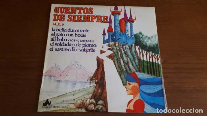 Discos de vinilo: 2 LPS CUENTOS DE SIEMPRE - VOL. 6, 8 - 1977. - Foto 2 - 236334740