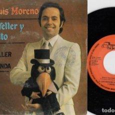 Discos de vinilo: JOSE LUIS MORENO - ROCKEFELLER Y MONCHITO - ROCK DE ROCKEFELLER - SINGLE DE VINILO - HUMOR #. Lote 236345115