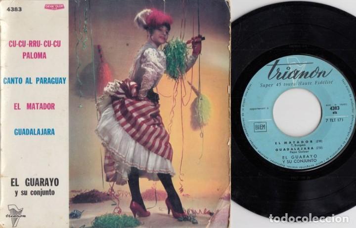 EL GUARAYO Y SU CONJUNTO - CUCURRUCUCU PALOMA - EP DE VINILO EDICION FRANCESA # (Música - Discos de Vinilo - EPs - Grupos y Solistas de latinoamérica)