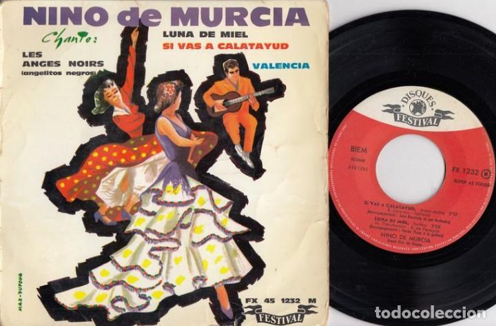 NINO DE MURCIA - EL NIÑO DE MURCIA - ANGELITOS NEGROS - EP DE VINILO EDICION FRANCESA # (Música - Discos de Vinilo - EPs - Flamenco, Canción española y Cuplé)