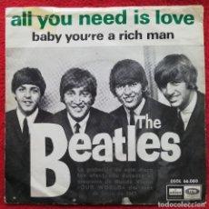 "Discos de vinilo: THE BEATLES - ALL YOU NEED IS LOVE 7"" 1967 PORTADA UNICA ESPAÑOLA. Lote 236369590"