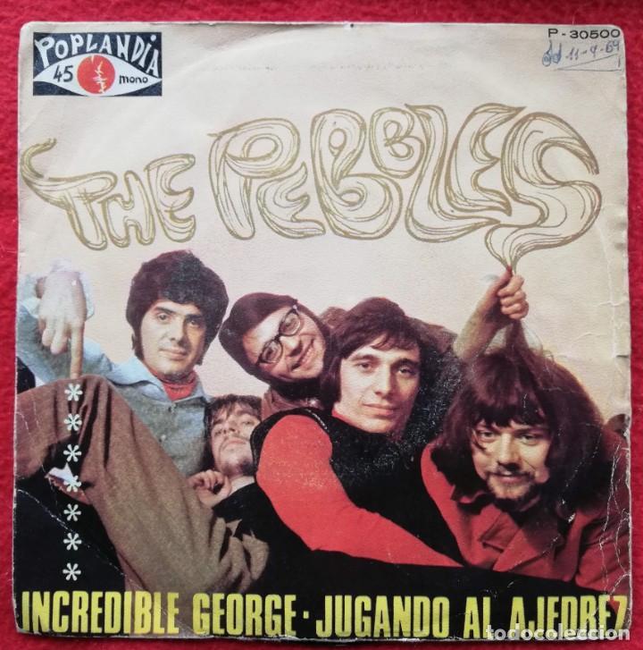 """THE PEBBLES - INCREDIBLE GEORGE / PLAYING CHESS - 7"""" 1970 PORTADA UNICA ESPAÑOLA (Música - Discos de Vinilo - EPs - Pop - Rock Extranjero de los 50 y 60)"""