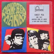 """Discos de vinilo: MANFRED MANN - SWEET PEA 7"""" EP 1968 EDICION UNICA PARA ESPAÑA. Lote 236378525"""