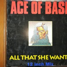 Discos de vinilo: ACE OF BASE. 2 DISCOS , EXTENDED / ALL THAT SHE WANTS / LIVING IN DANGER.. Lote 236383220