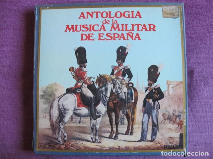 LP - ANTOLOGIA DE LA MUSICA MILITAR DE ESPAÑA (CAJA CON 10 LP'S Y LIBRO CON 112 PAG.) (Música - Discos - LP Vinilo - Otros estilos)