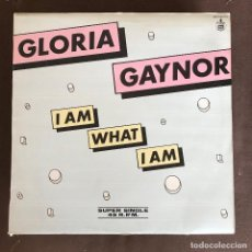 Discos de vinil: GLORIA GAYNOR - I AM WHAT I AM - 12'' MAXISINGLE HISPAVOX SPAIN 1983. Lote 236397875