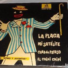 Discos de vinilo: SINGLE - CONJUNTO RITMO Y JUVENTUD -- LA PLAGA - DISCO AZUL. Lote 236402005