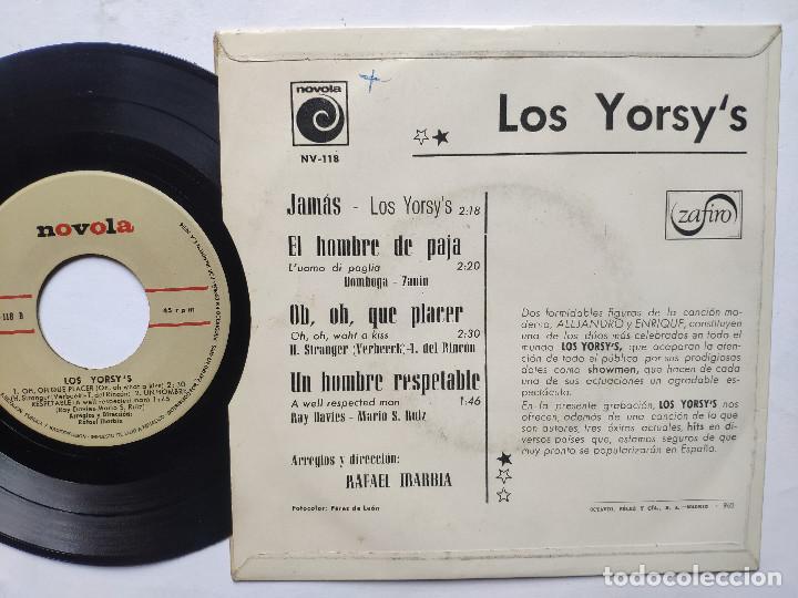 Discos de vinilo: LOS YORSYS - EP Spain PS - UN HOMBRE RESPETABLE ( KINKS COVER ) / JAMAS + 2 * 1966 - Foto 2 - 236403890