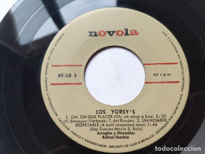 Discos de vinilo: LOS YORSYS - EP Spain PS - UN HOMBRE RESPETABLE ( KINKS COVER ) / JAMAS + 2 * 1966 - Foto 4 - 236403890
