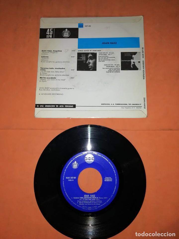 Discos de vinilo: JOAN BAEZ, FAREWELL, ANGELINA. EP. HISPAVOX- AMADEO RECORDS 1965 - Foto 2 - 236404920