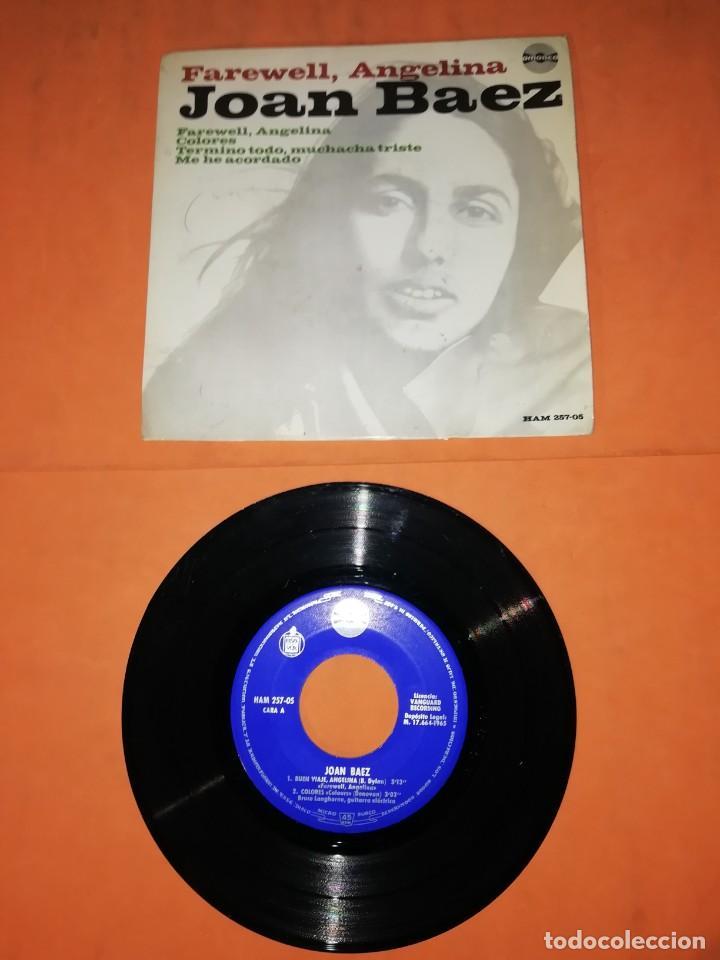 JOAN BAEZ, FAREWELL, ANGELINA. EP. HISPAVOX- AMADEO RECORDS 1965 (Música - Discos de Vinilo - EPs - Pop - Rock Extranjero de los 50 y 60)