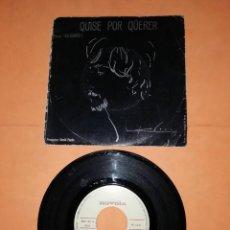 Discos de vinilo: JUAN PARDO. QUISE POR QUERER. SINGLE. NOVOLA RECORDS. 1971.. Lote 236407630