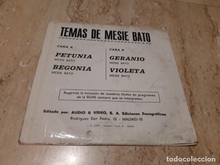 Discos de vinilo: MESIE BATO- PETUNIA/BEGONIA/GERANIO/VIOLETA EP 1975 AUDIO PROMO FUNK GROOVE WAH PSYCH SOUL - Foto 2 - 236411080