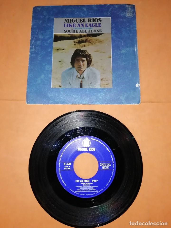 MIGUEL RIOS. LIKE AN EAGLE. SINGLE. HISPAVOX. 1970. (Música - Discos - Singles Vinilo - Solistas Españoles de los 70 a la actualidad)