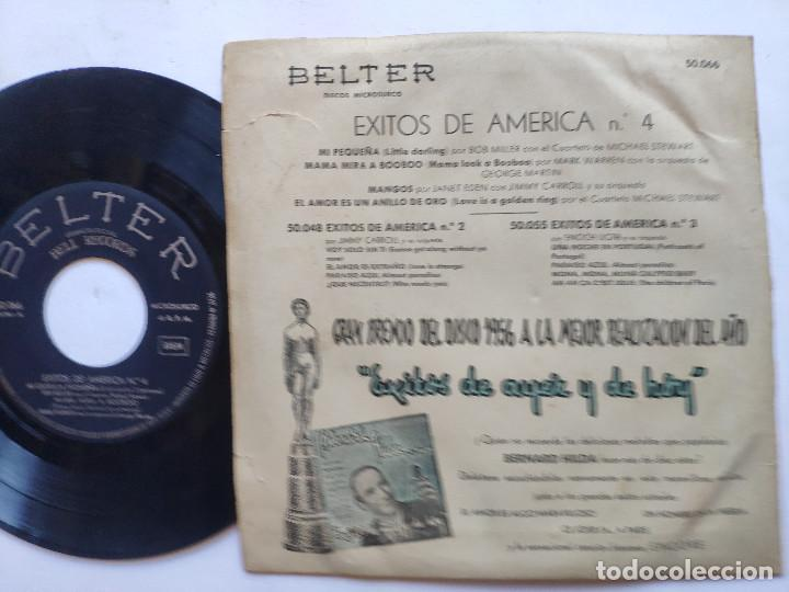 Discos de vinilo: EXITOS DE AMERICA VOL. 4 - EP Spain PS - BOB MILLER / MARK WARREN / JIMMY CARROLL / M STEWART - Foto 2 - 236412410