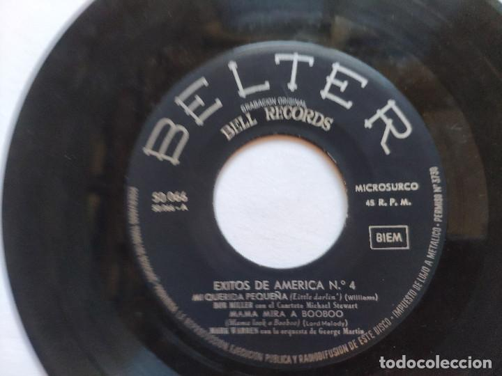 Discos de vinilo: EXITOS DE AMERICA VOL. 4 - EP Spain PS - BOB MILLER / MARK WARREN / JIMMY CARROLL / M STEWART - Foto 4 - 236412410