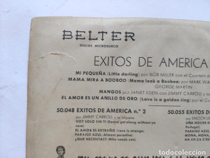 Discos de vinilo: EXITOS DE AMERICA VOL. 4 - EP Spain PS - BOB MILLER / MARK WARREN / JIMMY CARROLL / M STEWART - Foto 9 - 236412410