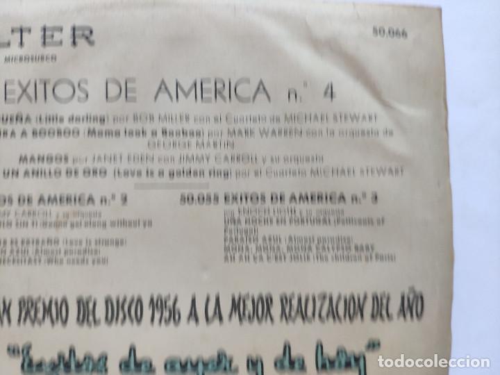 Discos de vinilo: EXITOS DE AMERICA VOL. 4 - EP Spain PS - BOB MILLER / MARK WARREN / JIMMY CARROLL / M STEWART - Foto 10 - 236412410