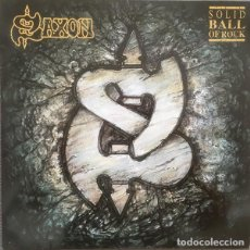 Discos de vinilo: SAXON – SOLID BALL OF ROCK -LP-. Lote 236413010