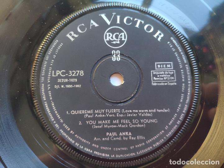Discos de vinilo: PAUL ANKA - EP Spain PS - EX * LOVE ME WARM AND TENDER * RARE 33 RPM * LPC 3278 * Año 1962 - Foto 6 - 236413735