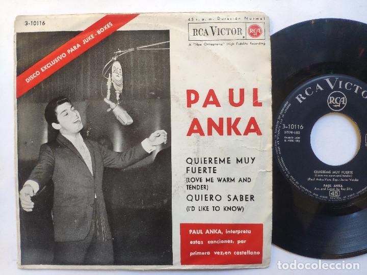 PAUL ANKA - EP SPAIN PS - EX * LOVE ME WARM AND TENDER * RARE 33 RPM * LPC 3278 * AÑO 1962 (Música - Discos - Singles Vinilo - Pop - Rock Extranjero de los 50 y 60)