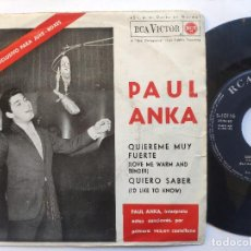 Discos de vinilo: PAUL ANKA - EP SPAIN PS - EX * LOVE ME WARM AND TENDER * RARE 33 RPM * LPC 3278 * AÑO 1962. Lote 236414385