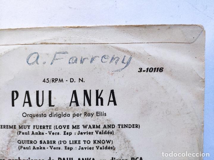 Discos de vinilo: PAUL ANKA - EP Spain PS - EX * LOVE ME WARM AND TENDER * RARE 33 RPM * LPC 3278 * Año 1962 - Foto 3 - 236414385
