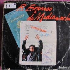 Discos de vinilo: LP - EL EXPRESO DE MEDIANOCHE - MUSIC BY GIORGIO MORODER (SPAIN, CASABLANCA RECORDS 1978). Lote 236415105