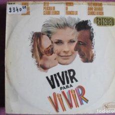 Discos de vinilo: LP - VIVIR PARA VIVIR - MUSIC BY FRANCIS LAI (SPAIN, UNITED ARTISTS 1967). Lote 236415745