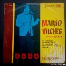 Disques de vinyle: MARIO VILCHES Y SUS COLOSOS IN SHOWTIME EXTRAVAGANZA EL VANGUARD (VOL1) - LP 1964 - RCA. Lote 236417805