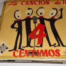 Discos de vinilo: SINGLE PIERRE SPIERS Y ORQUESTA - LA CANCION DE LOS 4 CENTIMOS. Lote 236418055
