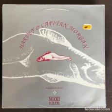 Discos de vinilo: HARVEY & CAPITÁN MORGAN - EL SUEÑO DE UN PEZ - 12'' MAXISINGLE PASIÓN 1992. Lote 236418165