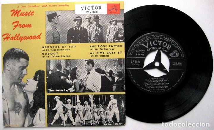 PERRY COMO / HUGO WINTERHALTER - MUSIC FROM HOLLYWOOD - EP VICTOR 1956 JAPAN BPY (Música - Discos de Vinilo - EPs - Bandas Sonoras y Actores)