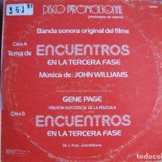 Discos de vinilo: MAXI - ENCUENTROS EN LA TERCERA FASE - JOHN WILLIAMS / GENE PAGE (PROMO ESPAÑOL, ARISTA 1978). Lote 236424265